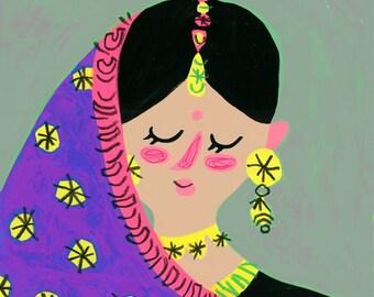 Indian bride, Indian woman portrait