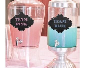 Team Pink Team Blue Gender Reveal - Gender Reveal ideas - Gender Reveal Party Decoration  - Gender Reveal Decor - DIY Instant Download