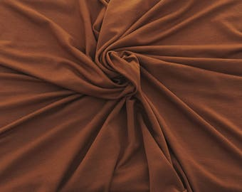 Bamboo Spandex Fabric Jersey Knit by Yard BRICK 4 Way Stretch 5/17