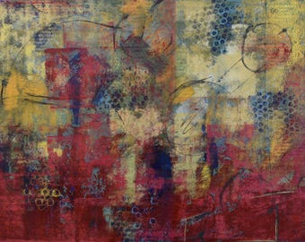 """Red Abstract Painting ... 18 x 24"""" Acrylic Art ... Abstract Wall Art ... Abstract Acrylic Painting"""