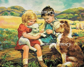 Nursery Art, Dog Art, Girl's Room Art, Boy's Room Art, Kitchen Art, Guest Room Art, Family Room Art  #471
