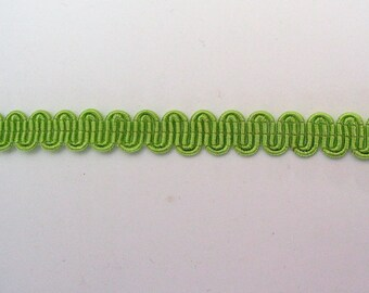 Light green serpentine stripe height 8mm - ref B4 viscose/cotton blend