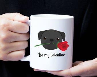 Personalized Pug Mug, Pug Coffee Mug, Pug Mug, Black Pug Mug, Love Pug Mug, Dog Mug, Dog Love Mug, Pug Wedding Gift,Pug Gift, Pug Love Mug