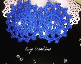 Lace rose earrings-rosette earrings in lace