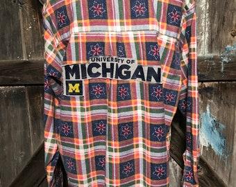 University of Michigan Flannel Sz PXL