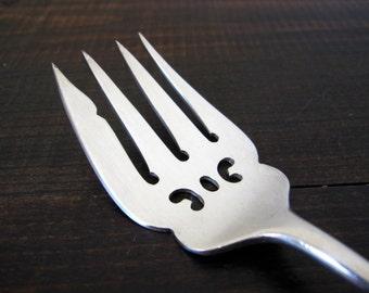 Vintage Meat Serving Fork Silverplate by Birks Regency Plate, Serving Flatware Silverware