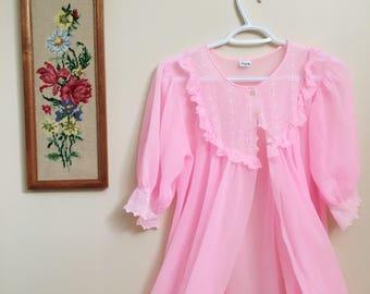 Vintage 1960's Queentex Pastel Pink Nightgown