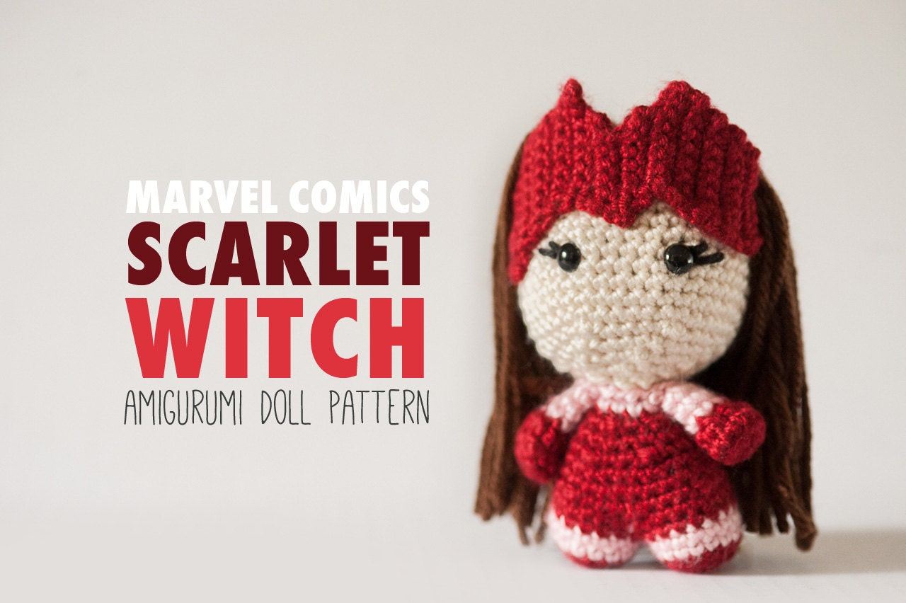 Scarlet Witch Amigurumi Doll inspired by Marvel Comics //