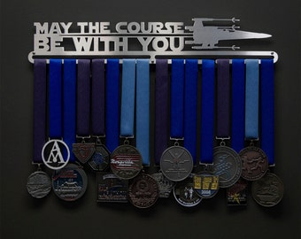 May The Course Be With You - Allied Medal Hanger Holder Display Rack