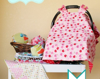 "Car Seat Cover//Canopy//PDF Pattern//toy//sewing pattern//""oh baby"""