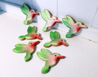 Hummingbird Hand Decorated Sugar Cookies - 1 Dozen