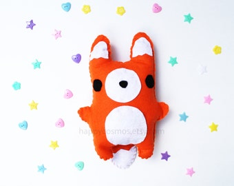 Fox Plush - Cute Softie , Kawaii Plushie, Children's Toy, Decorative Pillow, His and Hers Gift