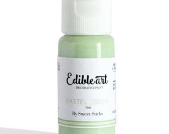 FAST SHIPPING!! Pastel Green Edible Art Paint, Edible Food Color, Pastel Green Food Color, Edible Water Color