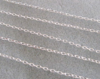 Bright Silver Plated Brass Long Cross Chain Soldered Link 4mm x 2mm 397