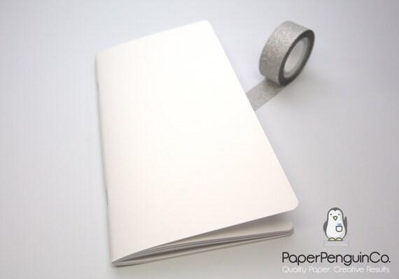 Midori Insert White Cover MTN Traveler's Notebook Regular A5 Wide B6 Personal A6 Pocket Field Notes Passport/Grid Dots Lined/Bullet Journal