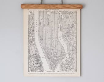 antique 1930s map of lower manhattan downtown new york city map antique city map