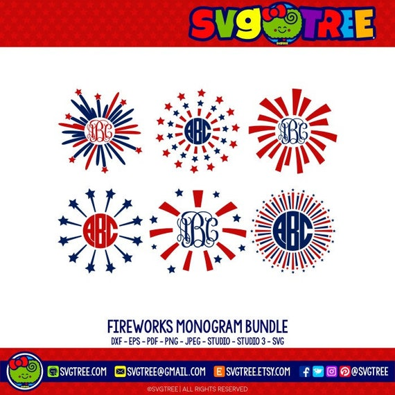 May The Fourth Be With You Lettering: Fourth Of July SVG Fireworks SVG Fourth Of July Monogram 4th