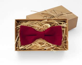 Red bow tie, boys bow ties, bow tie for wedding, mens bow tie, bow ties for men, wedding tie, ring bearer, pocket square, groomsmen gift