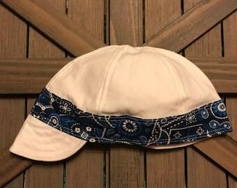 Welding Cap!! Handmade!!! Design on bill also