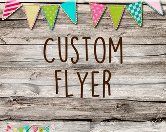 Custom Made Flyer - OOAK Logo - Avatars - Custom Made Set
