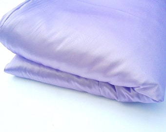 Lilac Satin Blanket Throw - Large Purple Luxurious Accent Blanket - Living room Accent - Bedroom throw blanket