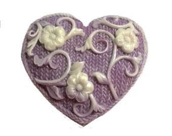 3 Valentine's Day Hearts Gift Soaps  100% Pure & Natural Soap  Decorative, Homemade, Handmade,  Choose: SCENT, COLOR, and TYPE of Soap