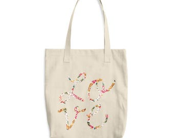 Love tote bag, Canvas Tote Bag, printed canvas tote bag, gift for women