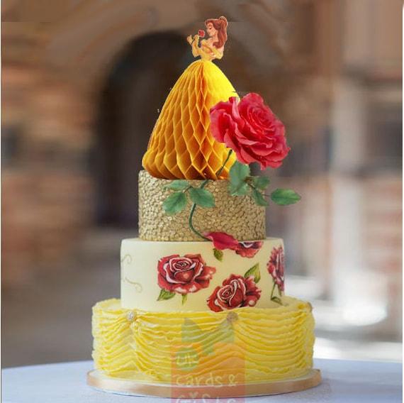 Disney Beauty Belle cake toppers Princess cake decoration
