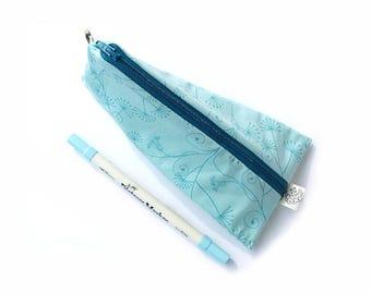 Pencil Case, Zipper Pouch, Small Cosmetic Bag, blue