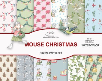 Christmas mice - paper