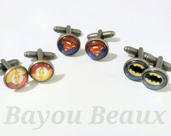 Hero Inspired Cufflinks Bat Cufflinks Lighting Cufflinks S Cufflinks Super Cufflinks