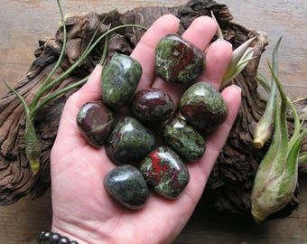 Dragons Blood Jasper Stone Tumbles AAA+ Crystal  ~ ONE piece ~