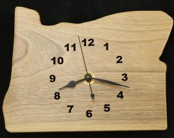 Oregon Myrtlewood Wood Wall Clock