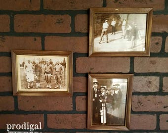 Vintage Golf Prints Photos ~ Set of 3 ~ Man Cave, Library, Office ~ Retro Style