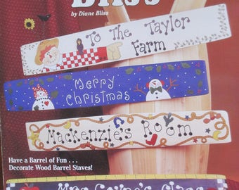 """1994 Decorative Tole painting """" Barrel Bliss"""" by Dianne Bliss (Design Originals Suzanne Mc Neill)   used booklet 24 pages"""
