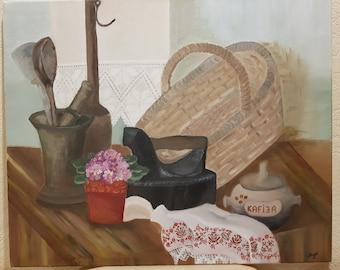 Oil painting by Inga Krievane handmade, made in latvia