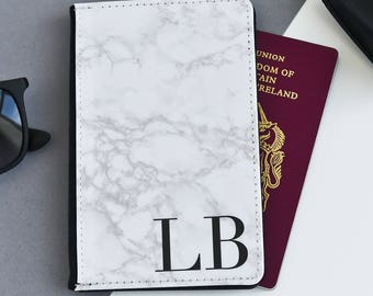Marble Passport Cover |  Personalized Passport Cover Holder | Custom passport holder | Marble passport wallet| Personalised Passport Gift