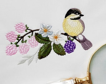 Machine Embroidery Design Titmouse - 2 sizes
