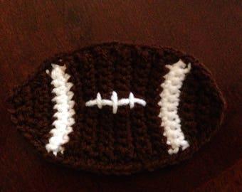 Crocheted Football Coaster - Set of 2, Set of 4, Set of 6, Set of 8, Set of 10