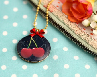 Necklace Cherry Cherry Rockabella Black