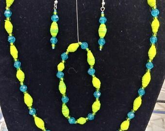 Paper Bead Jewelry Set