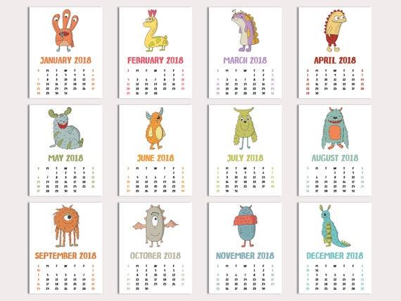 november 2018 calendar for kids
