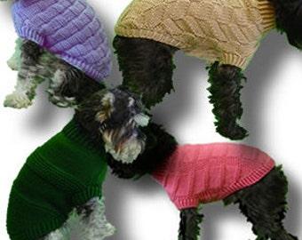 Set of 8 Dog Sweater Patterns - Small