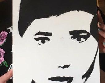 Audrey Hepburn Painting | Painting | Audrey Hepburn Decor | Wall Decor
