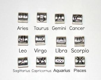Zodiac Symbol Paracord Beads 4 to 5mm Large Hole Aries Taurus Gemini Cancer Leo Virgo Libra Scorpio Sagittarius Capricornus Aquarius Pisces