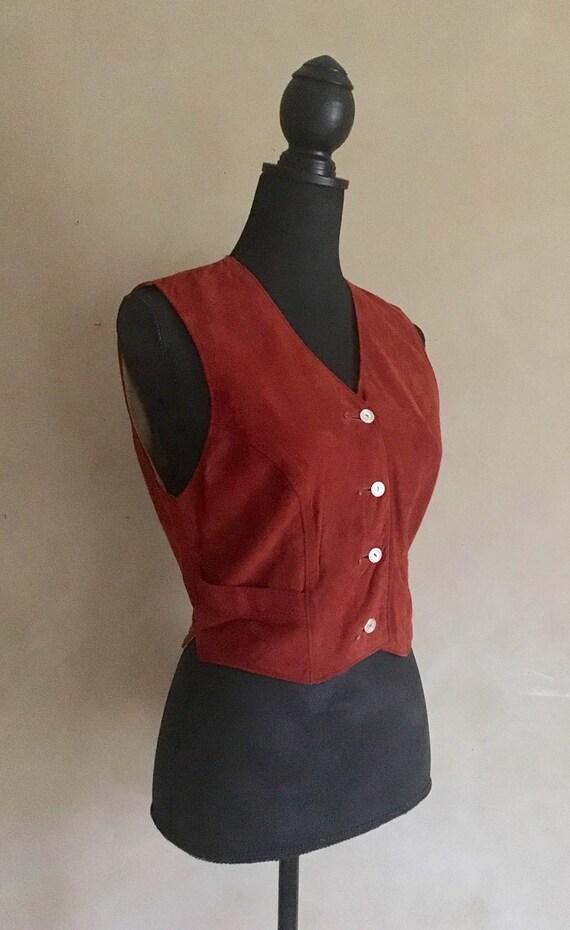 Vintage 70's Burnt Orange Suede Vest