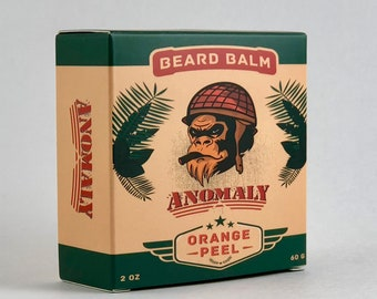 Anomaly Beard Balm | 2oz/60g | Natural | Orange Scent | Itch Relief | Tame Stray Hairs