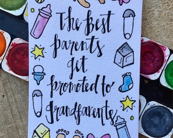 Water Color Baby Announcements, Baby Annoucement Cards, Baby Cards, Baby Announcement sign