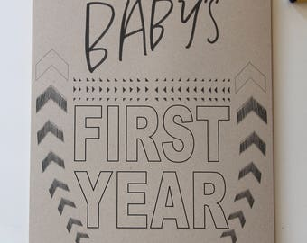 Baby's First Year Calendar- KRAFT