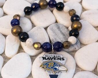 Ravens Team Bracelet